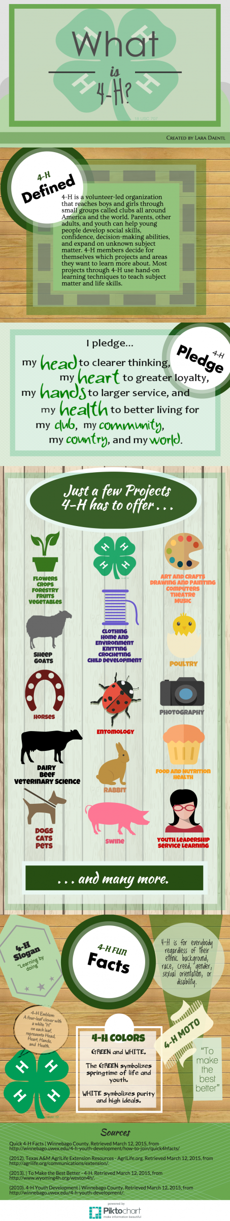 What is 4-H Graphic with information about 4-H Programs